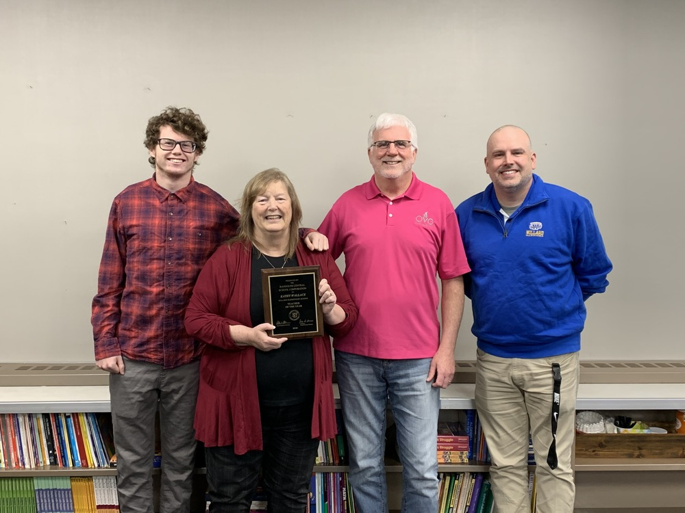 Kathy Wallace Named Willard's Teacher of the Year for 2019-2020
