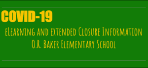 School Closure Update for the Week of March 30, 2020