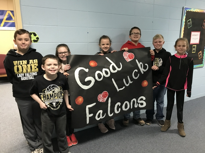 Deerfield students wish our Lady Falcons the best of luck as they play for the state championship tomorrow!