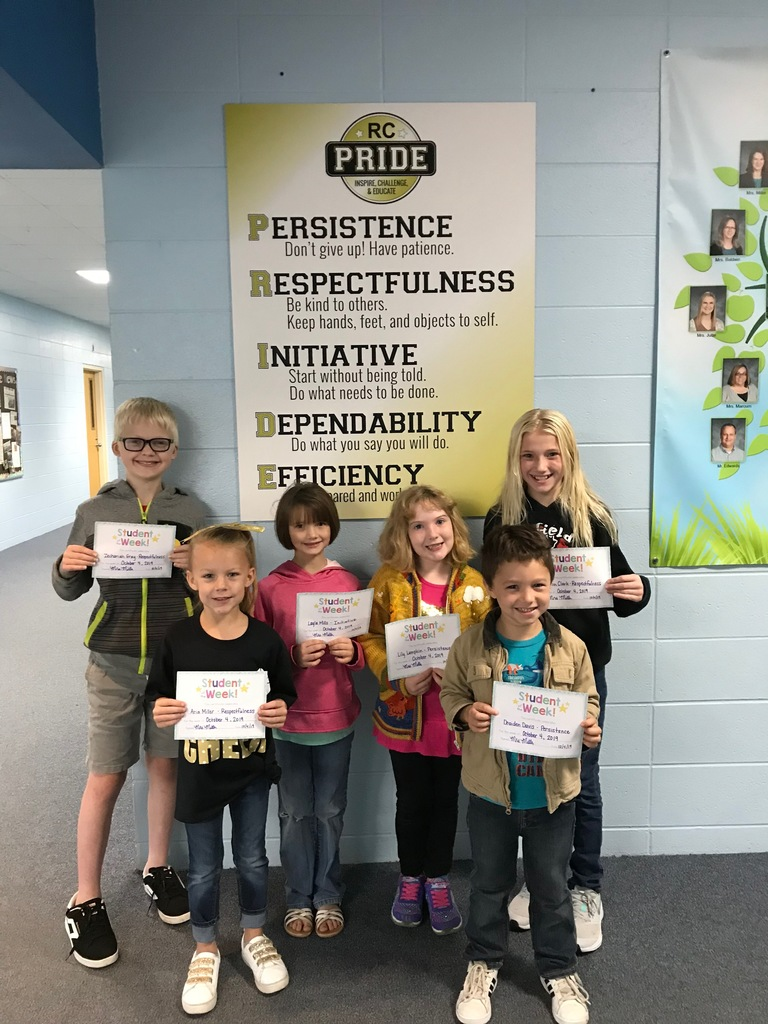 RC PRIDE Students of the Week 10-4-19