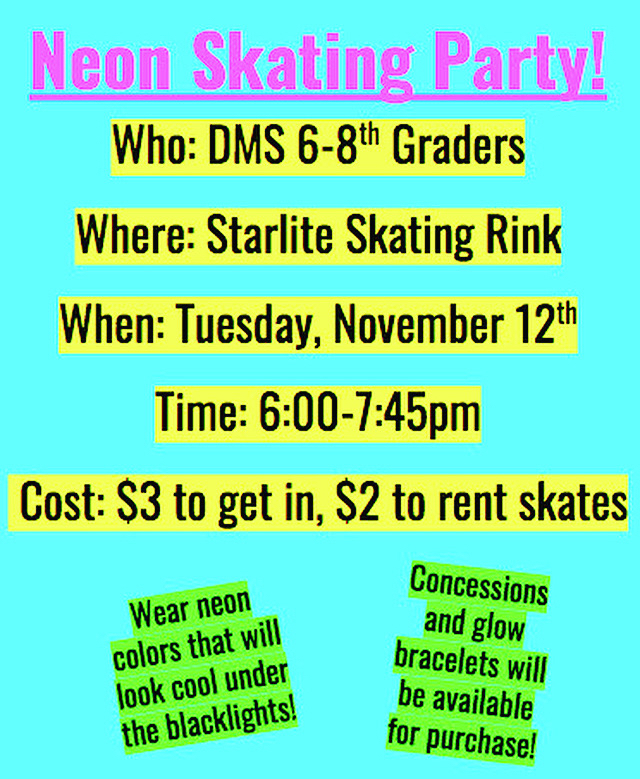 Skating Party Info