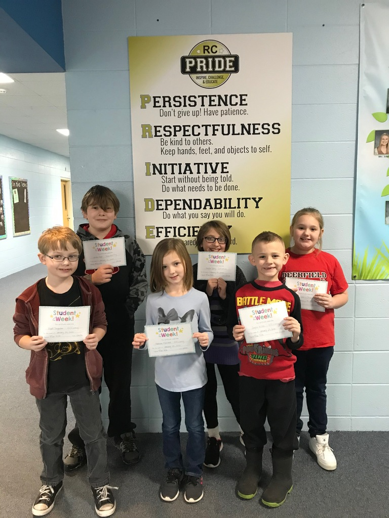 January 24 PRIDE Students of the Week